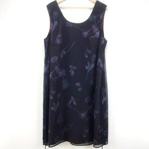 Donna Ricco Woman Floral Dress With Tie Plus